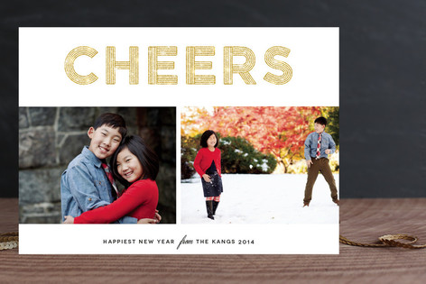 Glittering Cheers Holiday Postcards