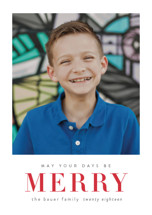 May Your Days Be Merry Holiday Postcards