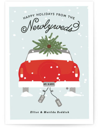 Merry & Married Holiday Postcards