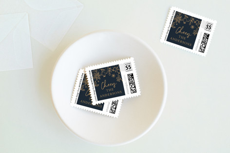 Texas gold Holiday Stamps
