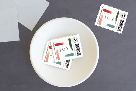 holiday brushed Holiday Stamps