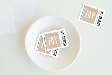 Wooden Frame Holiday Stamps