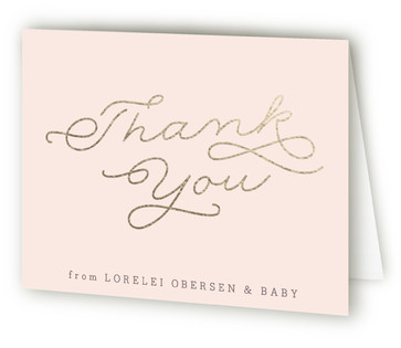 Modern Mother-to-Be Foil-Pressed Baby Shower Thank You Cards