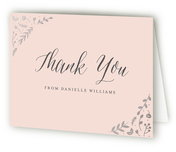 Garden Romance Foil-Pressed Baby Shower Thank You Cards