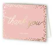 Starlight Foil-Pressed Baby Shower Thank You Cards