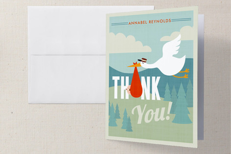 Adventurer Baby Shower Thank You Cards