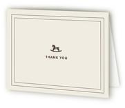 Vintage Rocker Baby Shower Thank You Cards
