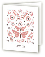 Mariposas Baby Shower Thank You Cards