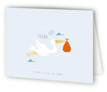 Babies are from Paris Baby Shower Thank You Cards