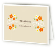 Oh Baby Florals Baby Shower Thank You Cards