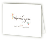 Rattle and Hum Baby Shower Thank You Cards