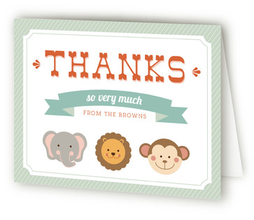 Little Wild One Baby Shower Thank You Cards