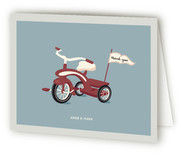 Ride On Over Baby Shower Thank You Cards