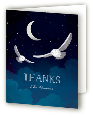 Night Owl Baby Shower Thank You Cards