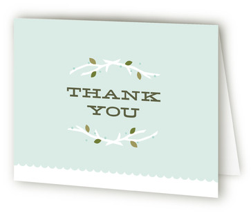 Feathered Nest Baby Shower Thank You Cards