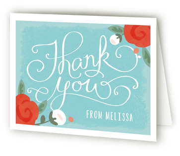 Baby Roses Baby Shower Thank You Cards