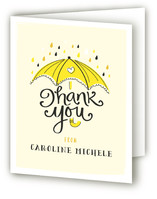Umbrella Shower Baby Shower Thank You Cards