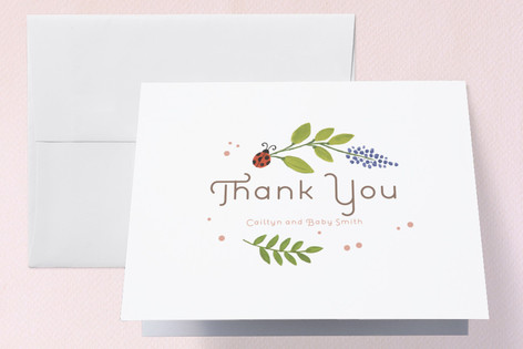 In the Garden Baby Shower Thank You Cards