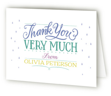 Sprinkle Stack Baby Shower Thank You Cards
