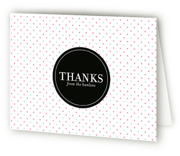Mustache vs. Bow Baby Shower Thank You Cards