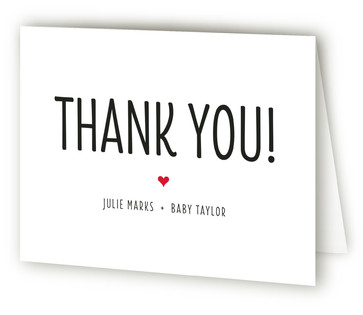 Mod Sip and See Baby Shower Thank You Cards