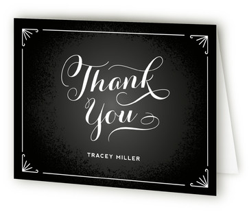 Chalkboard Greetings Baby Shower Thank You Cards