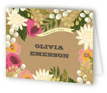 Floral Canopy Baby Shower Thank You Cards
