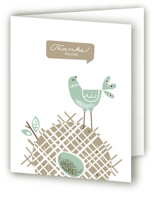 Mid Century Nest Baby Shower Thank You Cards