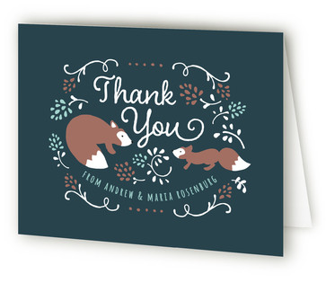 Little One Baby Shower Thank You Cards
