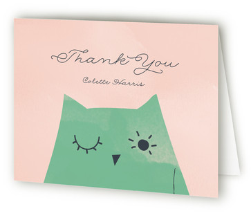 Owl Baby Baby Shower Thank You Cards