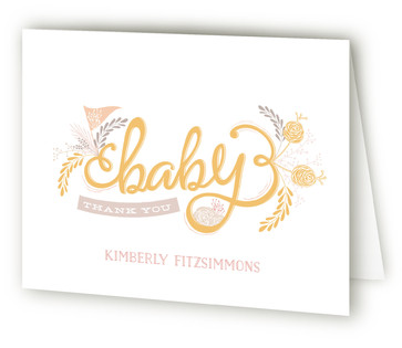 The Lovely Letters Baby Shower Thank You Cards