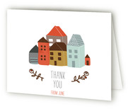 It Takes An Urban Village Baby Shower Thank You Cards