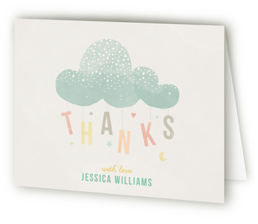 Cloud Charm Baby Shower Thank You Cards