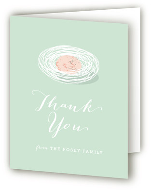 Baby Bird Baby Shower Thank You Cards