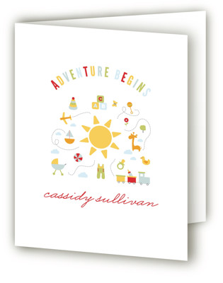 Adventure Awaits Baby Shower Thank You Cards