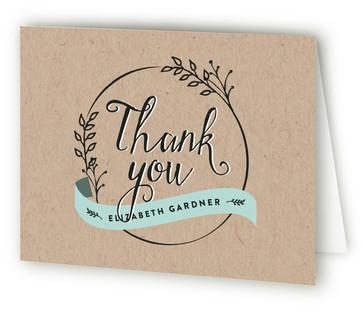 Botanical Balance Baby Shower Thank You Cards