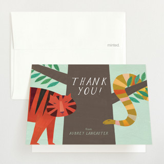 Jungle Animals Baby Shower Thank You Cards