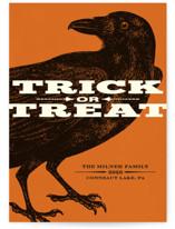 Trick or Treat Raven Halloween Postcards
