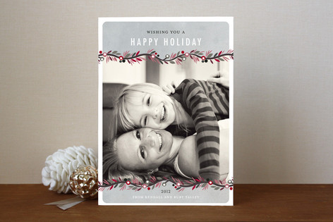 Canvas Garland Holiday Photo Cards