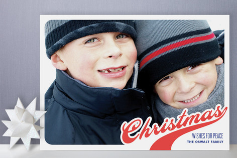 Swoosh of Christmas Holiday Photo Cards