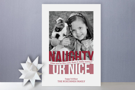 Naughty or Nice Holiday Photo Cards