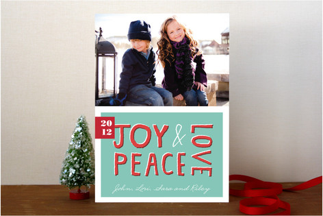 Tropical Joy Holiday Photo Cards