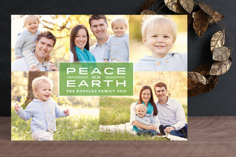 Stately Peace Holiday Photo Cards
