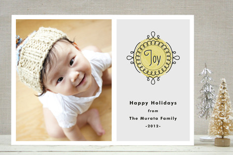 Noel Medallion Holiday Photo Cards