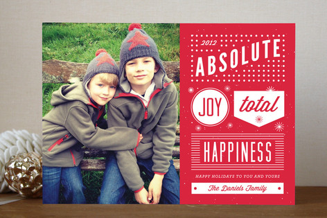 Absolute Joy Holiday Photo Cards