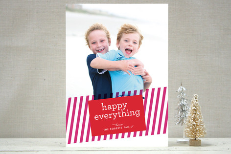 Sending Stripes Holiday Photo Cards