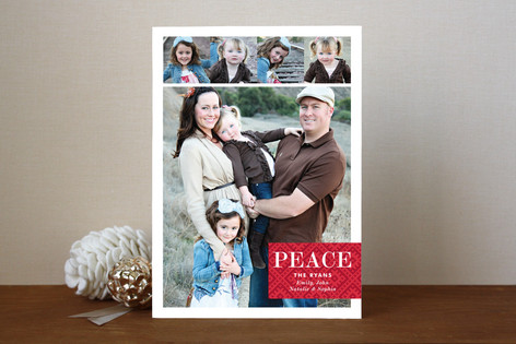Peace for Always Holiday Photo Cards