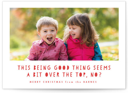 Over The Top Holiday Photo Cards