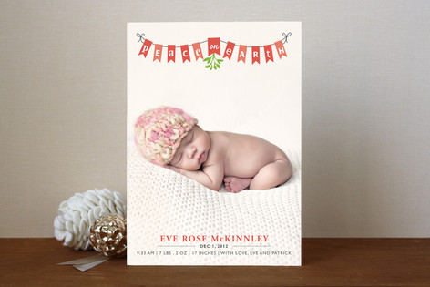 Peace on Earth Banner Holiday Photo Cards