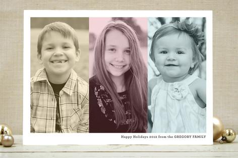 Trio Holiday Photo Cards